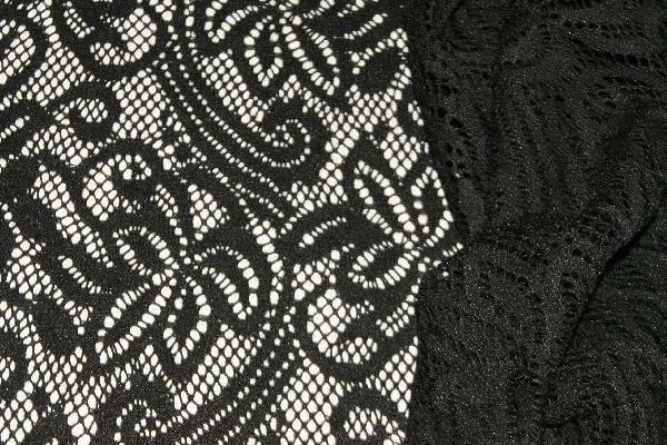 Прозрачная ткань черного цвета
