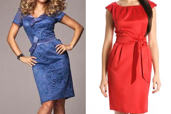 Платья из атласной ткани