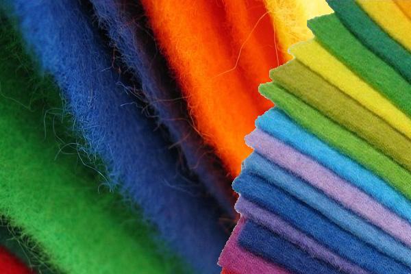 Материал фильц разного цвета