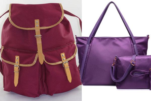 Сумки и рюкзак из ткани