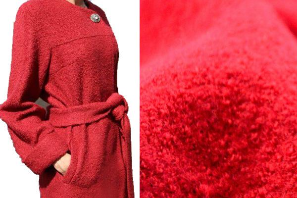Красная ткань для пальто