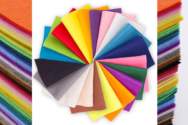 Разноцветные фетр
