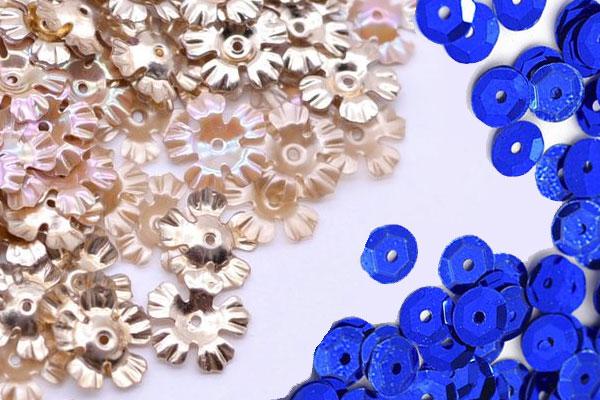 Металлические и пластмассовые пайетки