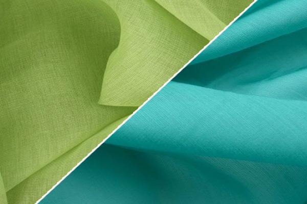 Салатовая и бирюзовая ткань