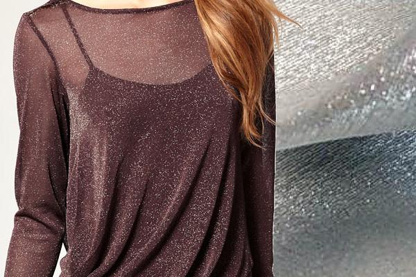 Блестящая ткань серого и бордового цвета