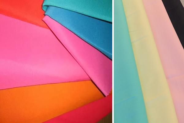 Цветная, яркая синтетическая ткань