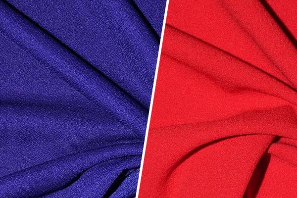 Синяя и красная ткань
